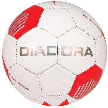 Diadora Evo Soccer Ball, White/Red - Size 3