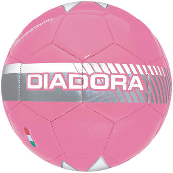 Diadora Fulmine Soccer Ball, Pink/Ch. Gray - Size 5