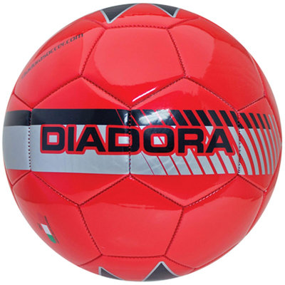 Diadora Fulmine Soccer Ball, Red - Size 4