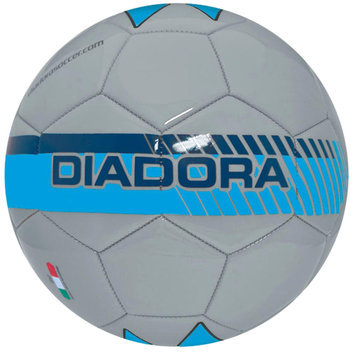 Diadora Fulmine Soccer Ball, Silver/Blue - Size 4