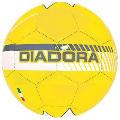 Diadora Fulmine Soccer Ball, Yellow/Grey - Size 3