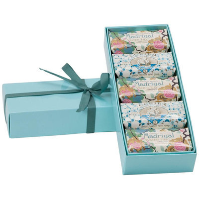 Claus Porto Blue Gift Box of 5 Mini soaps, 1 ea