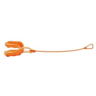 Shock Doctor Gel Max Strapped Mouthguard-Orange Youth