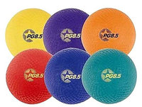 Champion Sports Playground Ball Set, Nylon, Assorted Colors, 6/Set