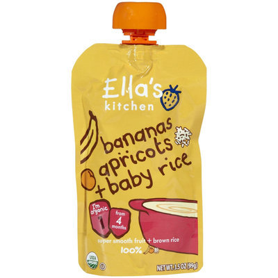 Ella's Kitchen 1 Baby Rice - Bananas Apricot + Baby Rice - 3.5 oz - 1 ct.