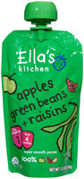 Ella's Kitchen 1 Purees - Apples Green Beans + Raisins - 3.5 oz - 1 ct.