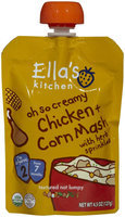 Ella's Kitchen 2 Meals - oh so creamy Chicken n Corn Mash - 4.5 oz - 1 ct.