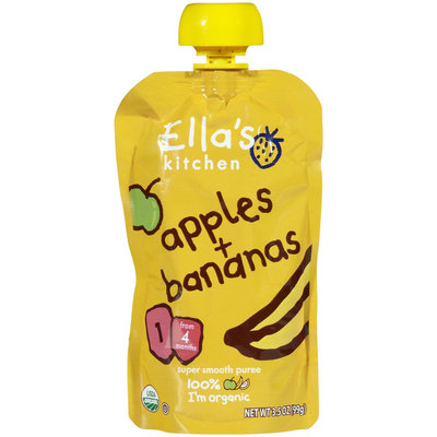 Ella's Kitchen 1 Purees - Apple & Banana - 3.5 oz - 1 ct.