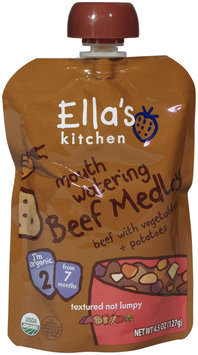 Ella's Kitchen 2 Meals - mouth watering Beef Medley - 4.5 oz - 1 ct.