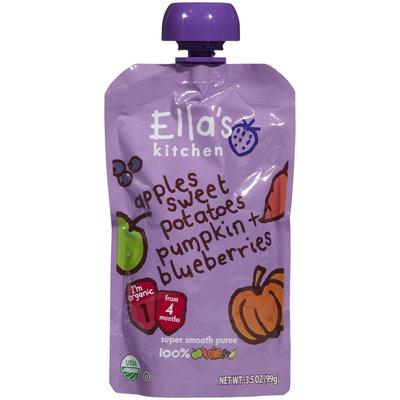 Ella's Kitchen 1 Purees - Sweet Potatoes Pumpkin Apples + Blueberries - 3.5 oz