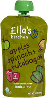 Ella's Kitchen 1 Purees - Spinach Apple & Rutabaga - 3.5 oz - 1 ct.