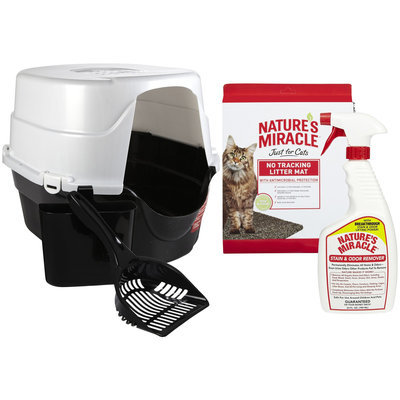 Nature's Miracle Litter Box, Scoop, Litter Mat and Odor Spray - 4 pk.