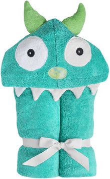Yikes Twins Child Hooded Towel - Turquoise Monster