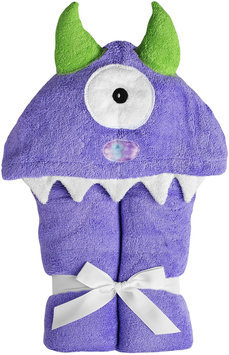 Yikes Twins Child Hooded Towel - Purple Monster