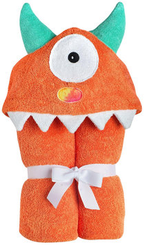 Yikes Twins Child Hooded Towel- One Eyed Monster- Orange - 1 ct.