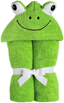 Yikes Twins Child Hooded Towel- Frog - 1 ct.