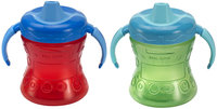 Nuk Gerber Graduates Fun Grips w/ Seal Zone 2-Handle Trainer Soft Spout Sippy - 7 oz - 2 Pk - Boy