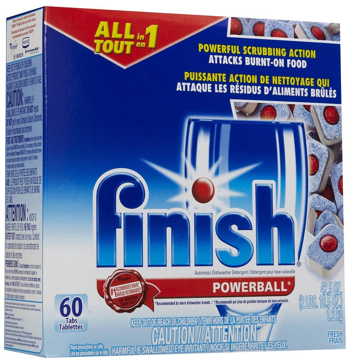 Finish Dishwasher Detergent Powerball Dishwasher Tabs, Fresh Scent