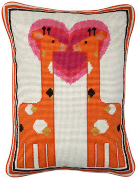 Jonathan Adler Junior Giraffe Needlepoint Pillow - 1 ct.
