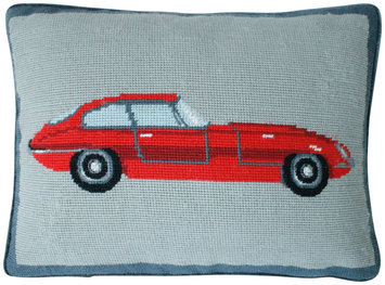 Jonathan Adler Sports Car Pillow - Red - 1 ct.