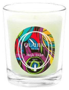 Qualitas Scented Candle, 100% White Beeswax