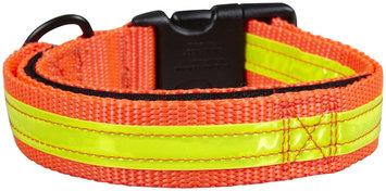 Petflect Co-Leash All-In-One Collar & Leash Night Lite - Orange