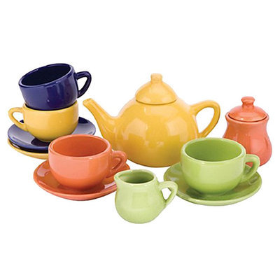 Schylling Children's Tea Set (Colors May Vary)