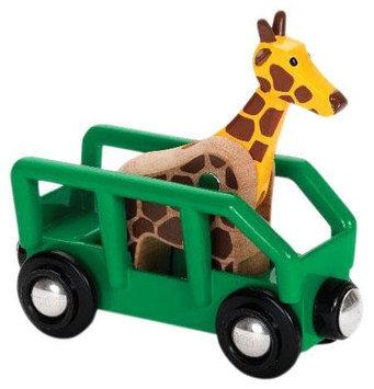 Brio Safari Wagon and Giraffe
