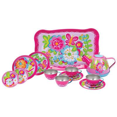 Garden Fun Tin Tea Set by Schylling
