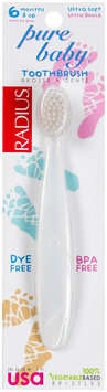 Radius Pure Baby Toothbrush, 6-18 mo, Clear - 1 ct.