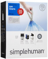 simplehuman Trash Can Liner D (50 Count)