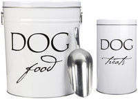 Harry Barker Storage Can Dog Classic White S (SS)