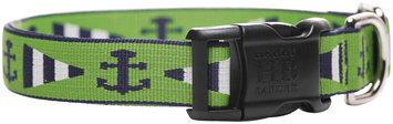 Harry Barker Newport Dog Collar Grn/Blue 3/4 in Lg (SS)