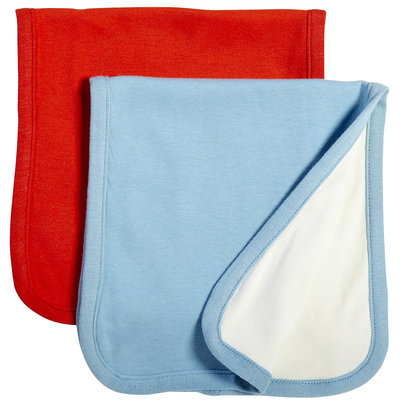 Babysoy Oh Soy set of 2 Burp Cloths - Sky & Tomato - 1 ct.
