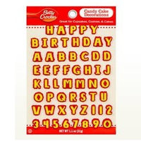 Betty Crocker™ Alphabet Assortment Yellow and Red Candy Card Decoration
