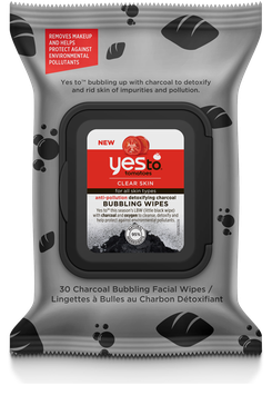 Yes To™ Tomatoes Anti-pollution Detoxifying Charcoal Bubbling Wipes