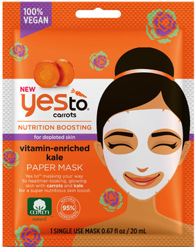 Yes To Carrots Vitamin-Enriched Kale Paper Mask