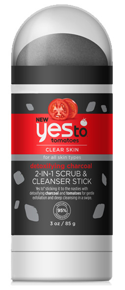Yes To Tomatoes Detoxifying Charcoal 2-in-1 Scrub & Cleanser Stick