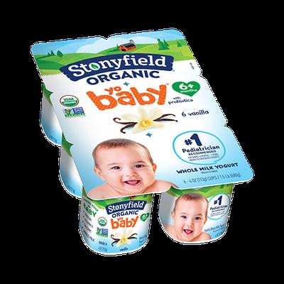 Stonyfield Organic YoBaby Vanilla Whole Milk Yogurt