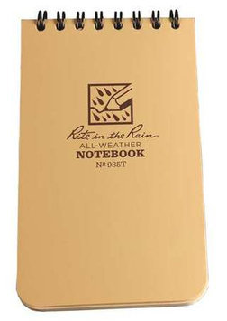 RITE IN THE RAIN 935T All Weather Memo Book, Universal,3 x 5In.