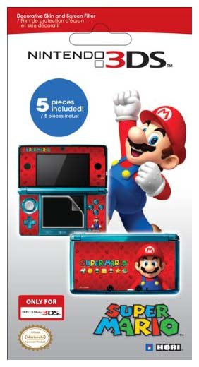 Hori Mario Filter N Skin Set for Nintendo 3DS