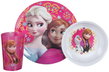 Zak Designs Disney's Frozen 3 Piece Mealtime Set - Plate/Bowl/Tumbler