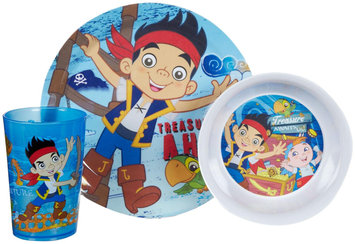 Zak Designs Jake and the Neverland Pirates 3 Piece Mealtime Set - Plate/Bowl/Tumbler