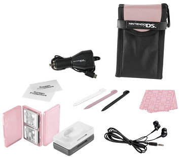 POWER A Nintendo DS Lite 15- in-1 Everyday Starter Kit, Pink