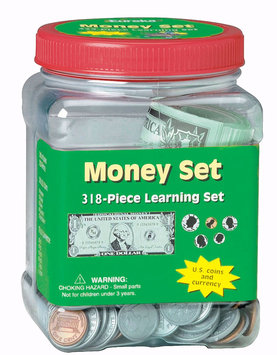 Eureka Tub Of Money - 318 Pieces