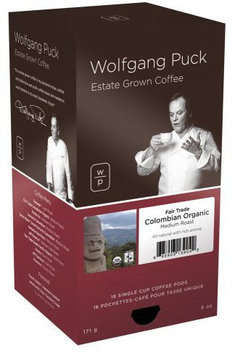 Wolfgang Puck Fair Trade Colombian Organic, 18 ct Pods, 3 pk