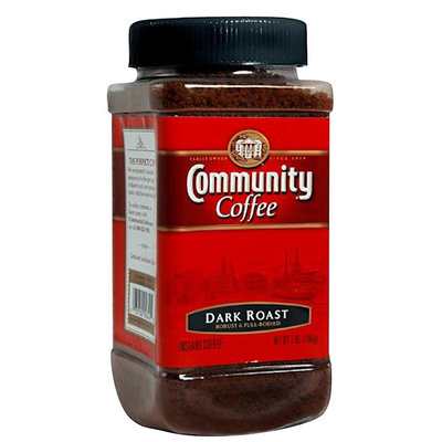 Community Coffee Instant Coffee, Dark Roast, 7 oz Jars, 4 pk