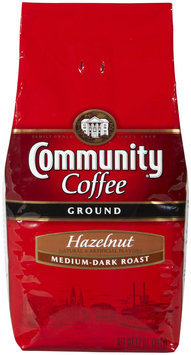 Community Coffee Ground Coffee, Hazelnut, 12 oz Bags