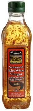 Roland Seasoned Rice Wine Vinegar w/ Crushed Red Pepper, 16.9 oz Jars, 6 pk