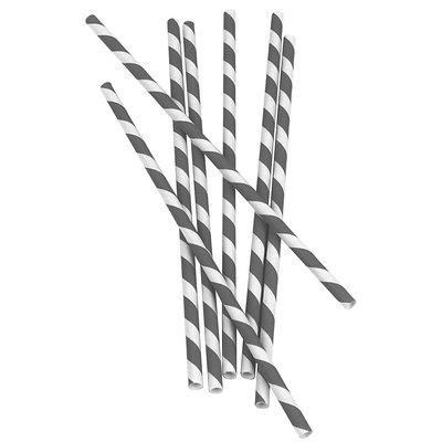 Kikkerland - Paper Straws Gray - 144 Count